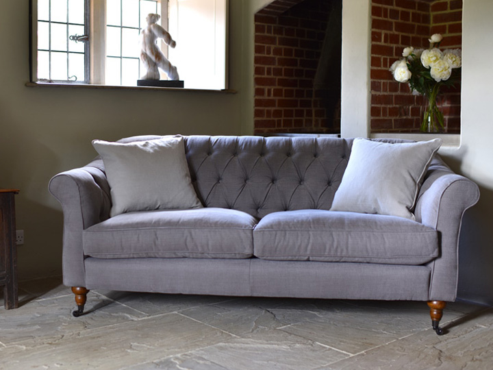 1 Abbotsbury 3 Seater Sofa in LInara Bison