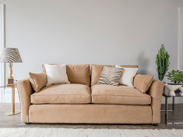 1 Aldeburgh 3 Seater Sofa Bed in Romo Linara Spice