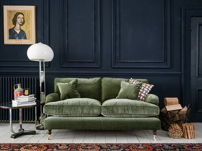 1 Alwinton 2.5 Seater Sofa in Textured Velvet Lichen