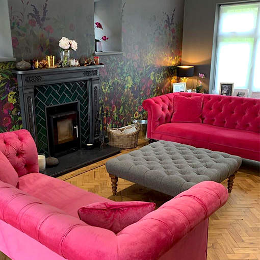 ww/assets/images/cam/customer images/2 Camden 3 seater Sofas in Napoli Fuchsia