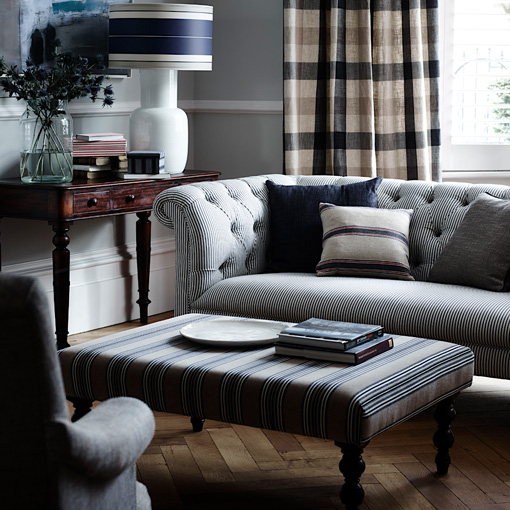 ww/assets/images/cam/customer images/3 Camden 3 Seater Sofa in Ian Mankin Britannia Ticking Dark Navy