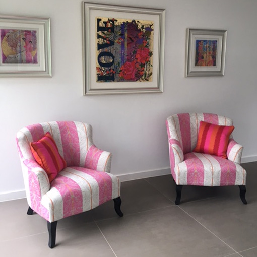 ww/assets/images/grt/customer images/3 Grassington Chairs in Clarke & Clarke Carmine