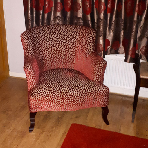 ww/assets/images/grt/customer images/6 Grassington Chair in Colefax and Fowler Wilde Red