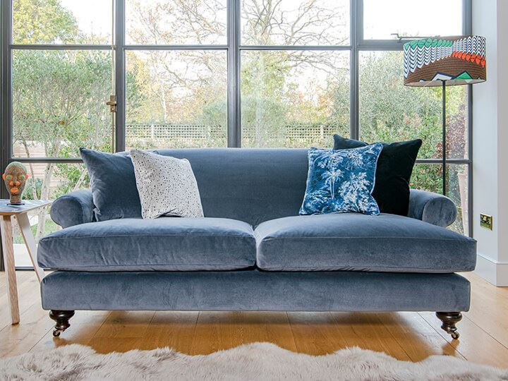 1 Hampton 3 Seater Sofa in Designers Guild Varese Granite