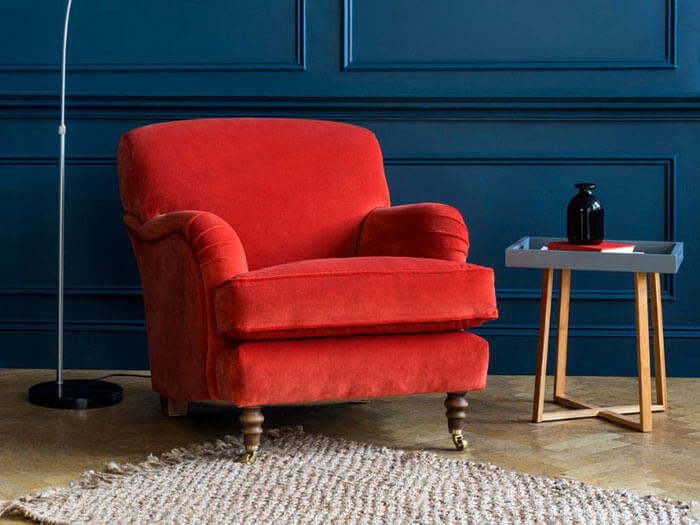 1 Kentwell Chair in Varese Paprika