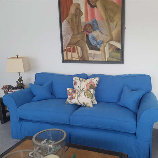 ww/assets/images/lyh/customer images/5 Lanhydrock 3 Seater Sofa Loose Cover Sofa in Designers Guild Brera Lino Cerulean