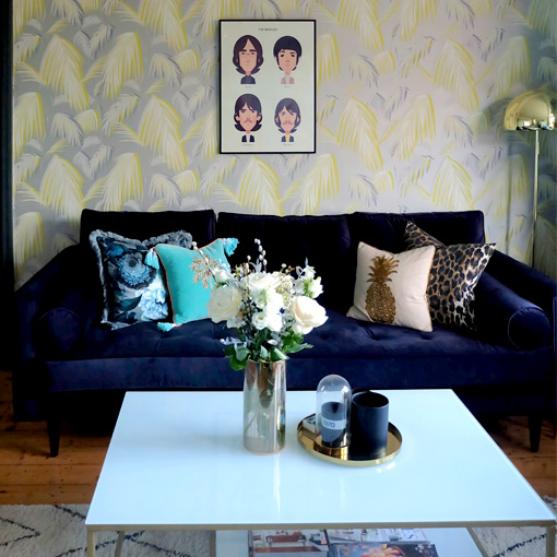 ww/assets/images/may/customer images/2 Marylebone 3 Seater Sofa in Napoli Velvet Navy Courtesy of  Dottys Decor