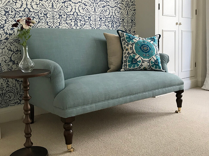 1 Midhurst 2 Seater Sofa in Tough as Houses Tuscany Soft Teal
