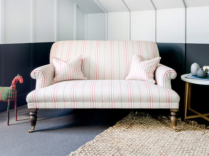 2 Midhurst 2 Seater Sofa in Cloth 18 Stripe Regimental Currant