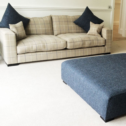 ww/assets/images/sth/customer images/6 Stourhead 3 Seater Sofa in Barra Check Dingley & Stool in Harris Tweed