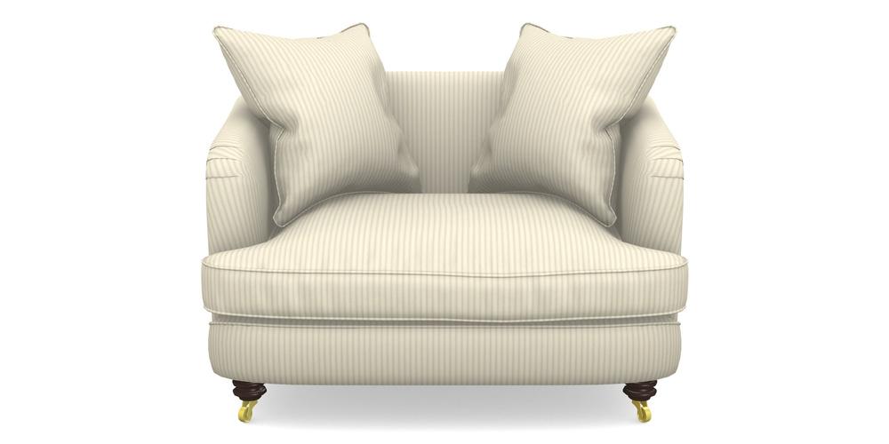 Helmsley Snuggler In Cotton Stripe Grey