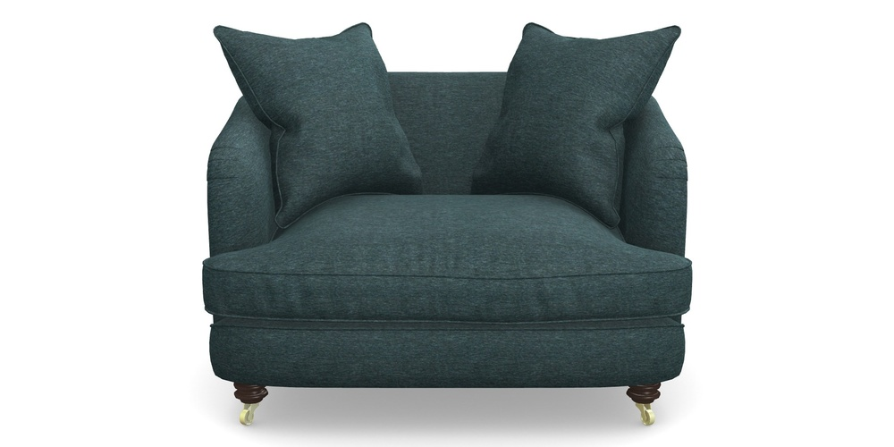 Helmsley Snuggler In Textured Velvet Atlantic