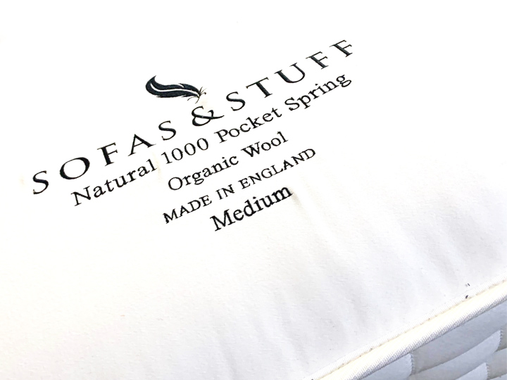 Superior Natural 1000 Mattress front